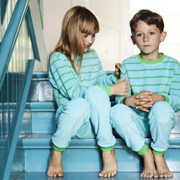 Kids pyjamas in organic cotton terry