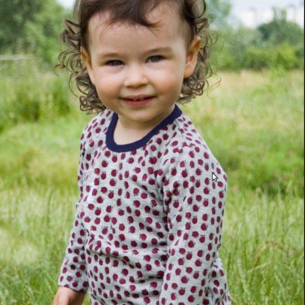 Kimono baby shirt in organic cotton
