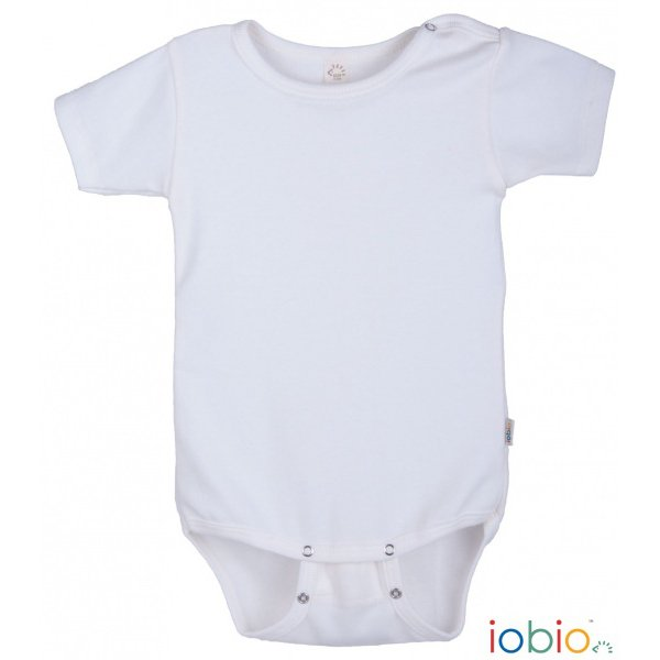 Bodysuit Popolini short sleeves in organic cotton