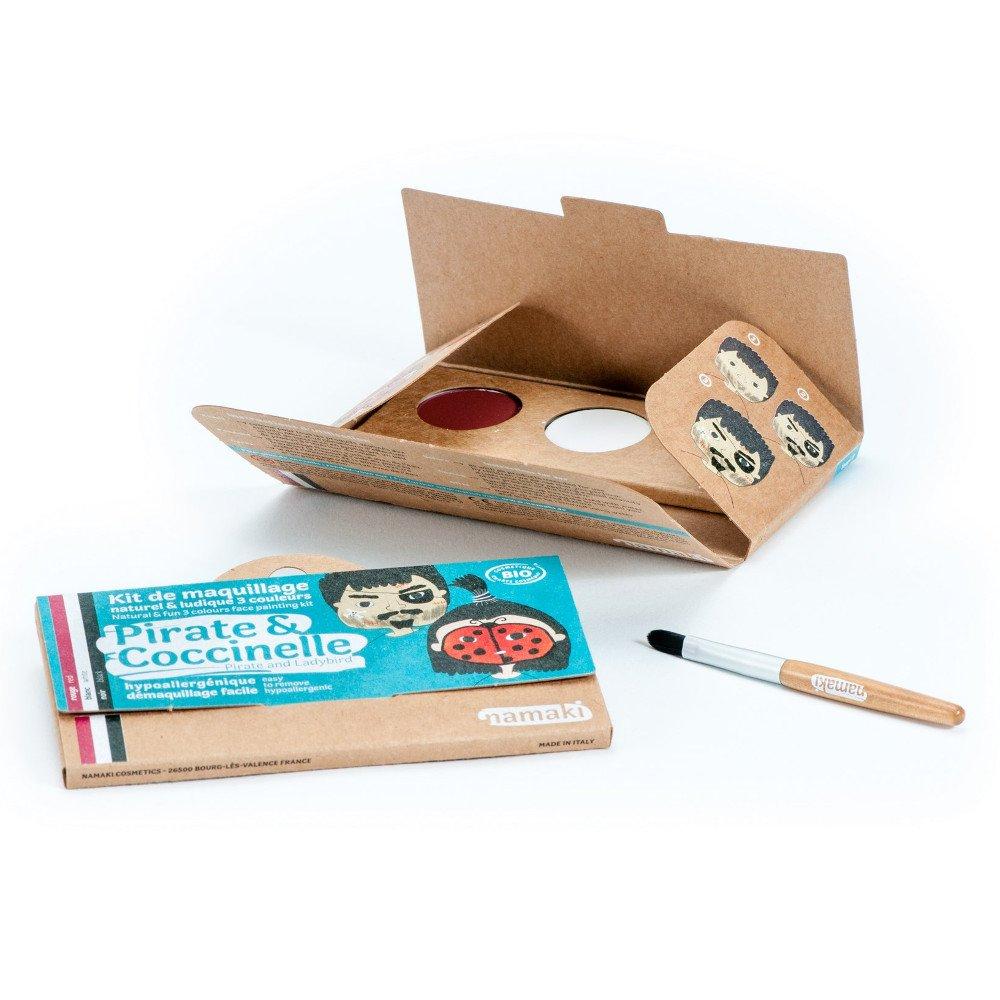 Kit make up bio 3 colori Pirata e Coccinella