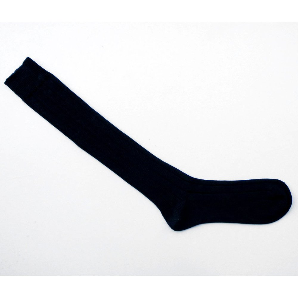 Knee high thick socks in dyed organic cotton