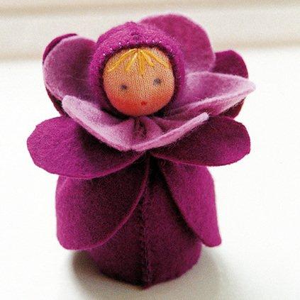 Kit Bamboline delle Stagioni: Violetta in lana naturale fai-da-te