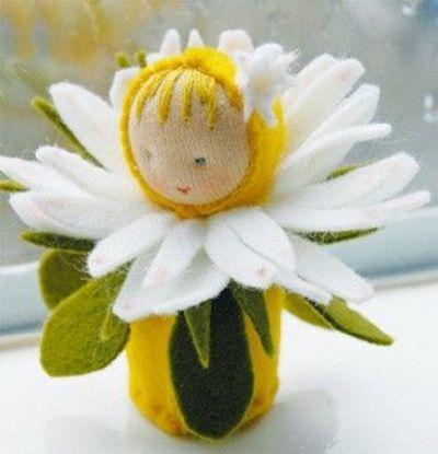 Kit Bamboline delle Stagioni: Margherita in lana naturale fai-da-te