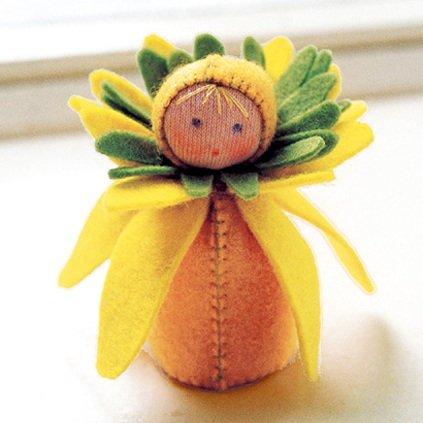 Kit Bamboline delle Stagioni: Narciso in lana naturale fai-da-te
