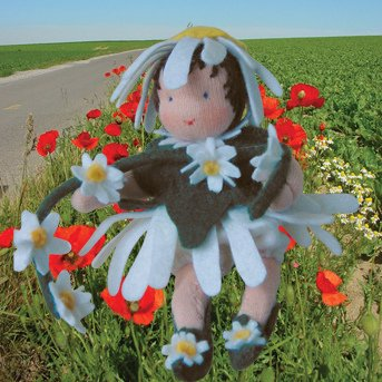 Kit Bambini dei Fiori: Margherita in lana naturale fai-da-te