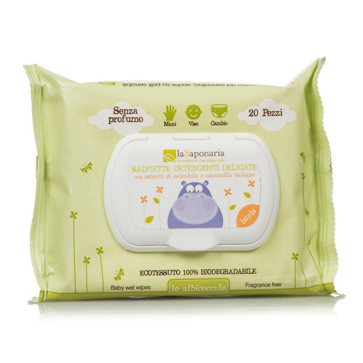 Salviette detergenti Le Albicoccole delicate e biodegradabili 20 pz