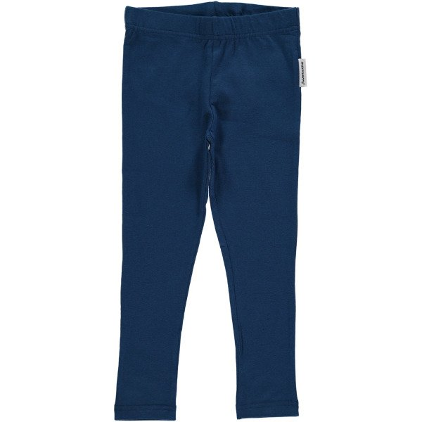 Leggings bimba Blu scuro in cotone biologico