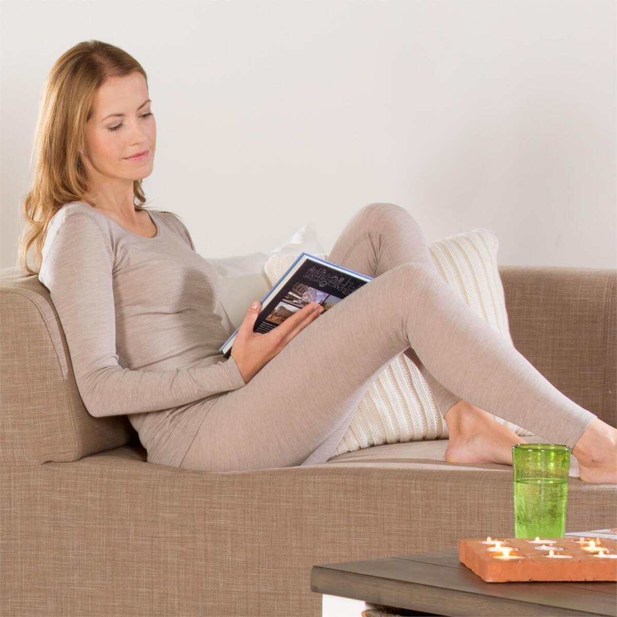 Legging in lana e cotone biologico