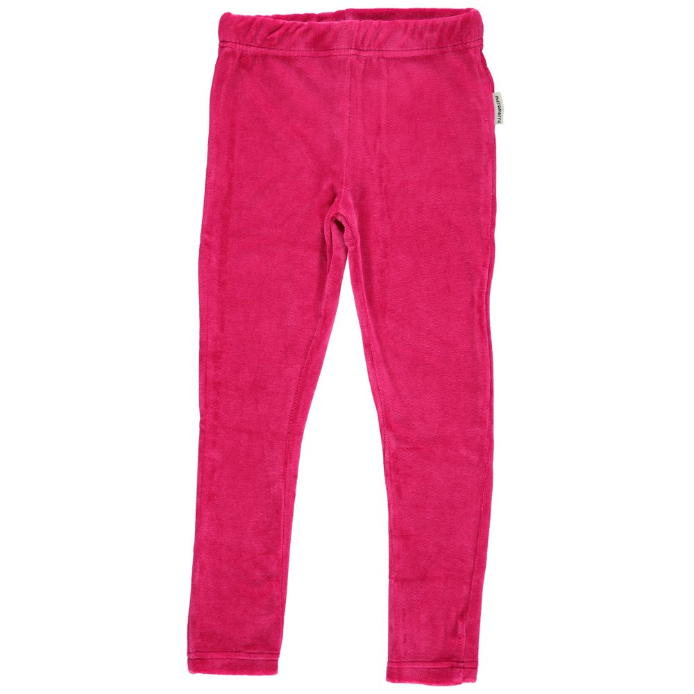 Leggings Chenille Raspberry in organic cotton