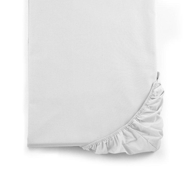 Lenzuolo letto singolo con angoli Mymami in cotone bio Bianco Neve