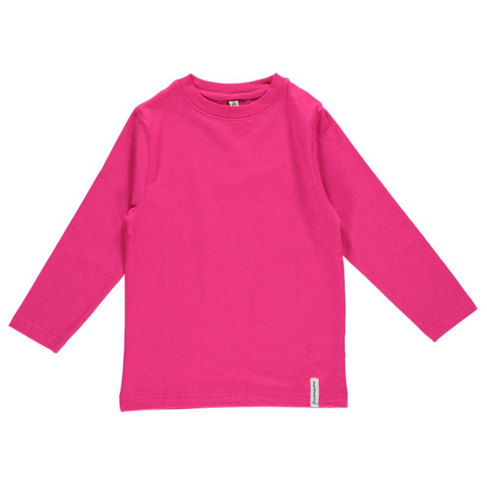 Long sleeve shirt Raspberry in organic cotton
