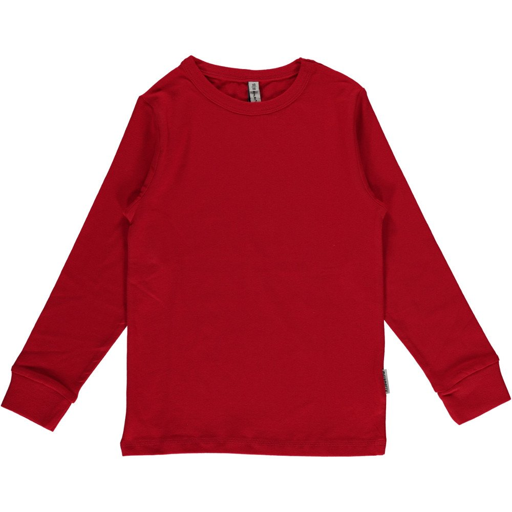 Long sleeve shirt Red in organic cotton