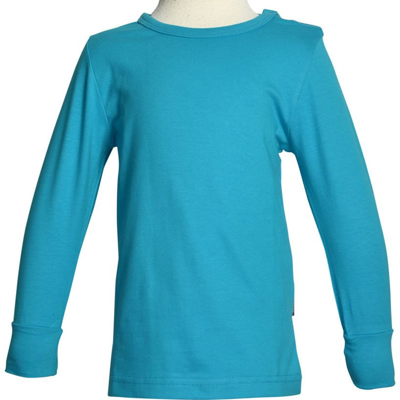 Long sleeve shirt Turquoise in organic cotton