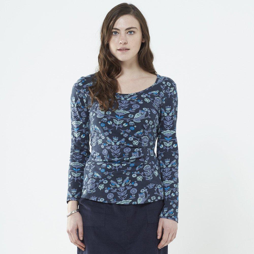 Long sleeve shirt Owl in organic cotton