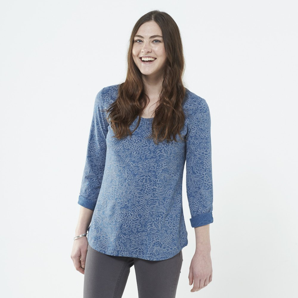Long sleeve shirt Shivani in organic cotton