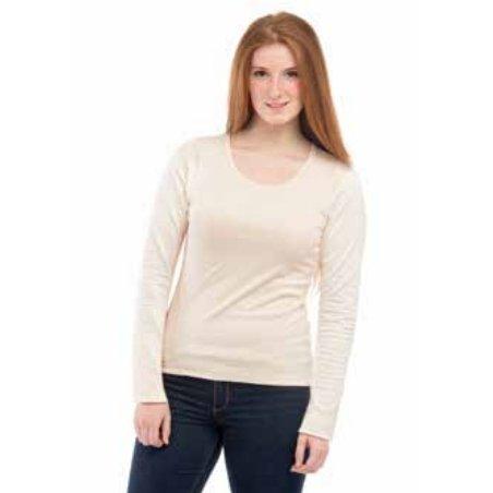 Long sleeve woman vest in organic cotton