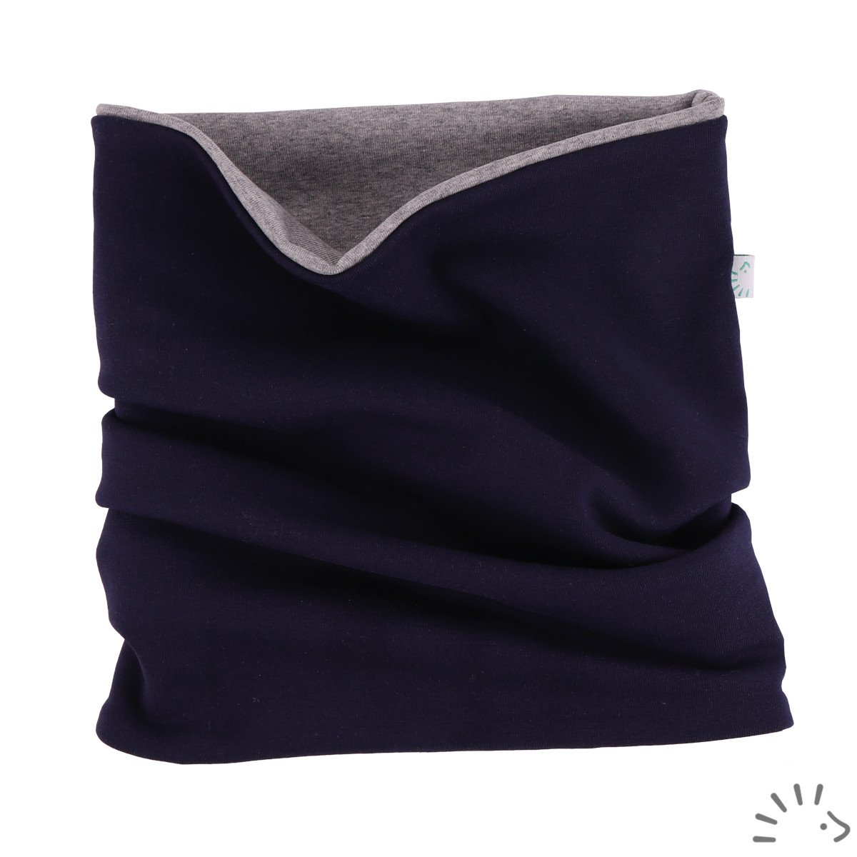 Loop scarf in organic cotton Popolini