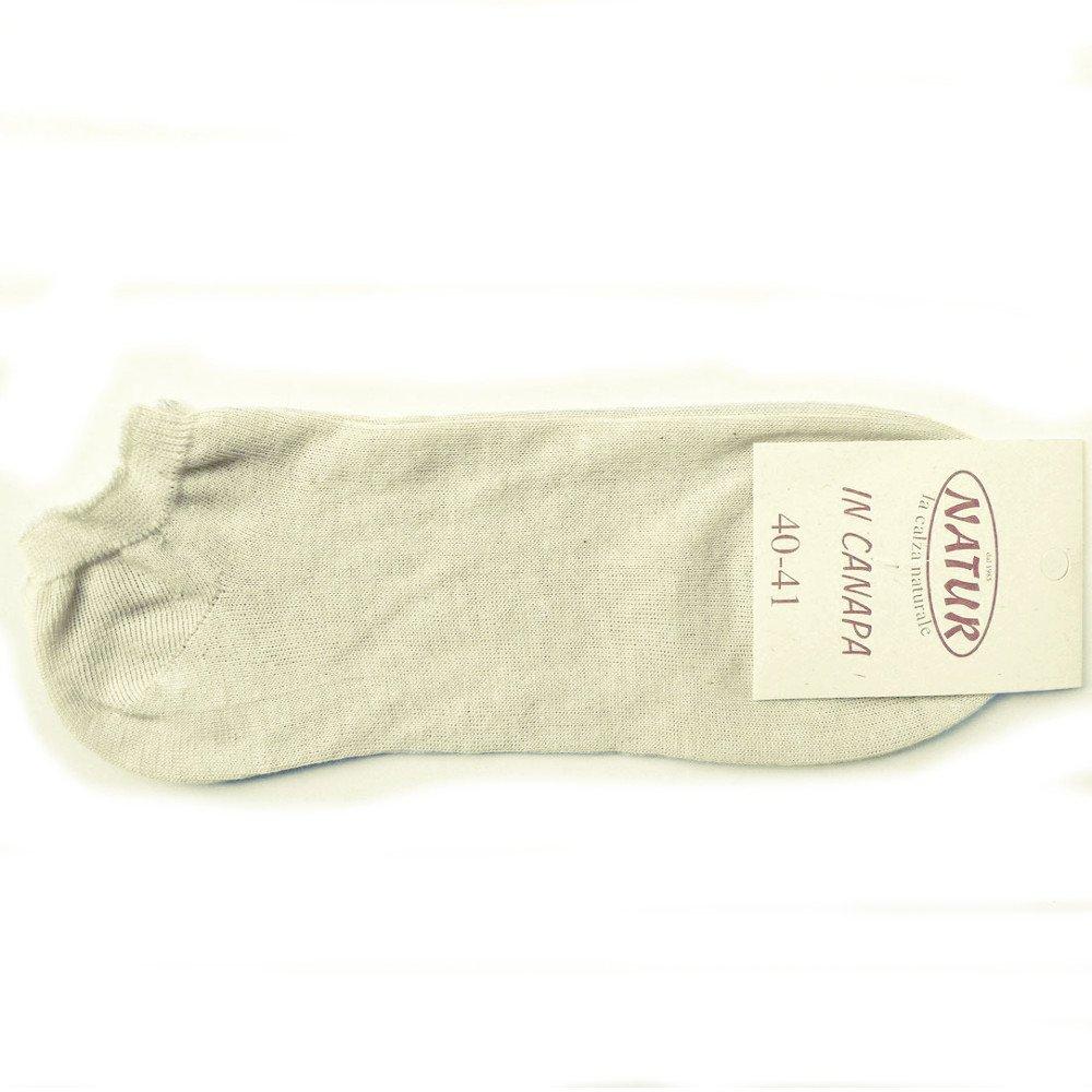 Low cut socks in hemp and organic cotton