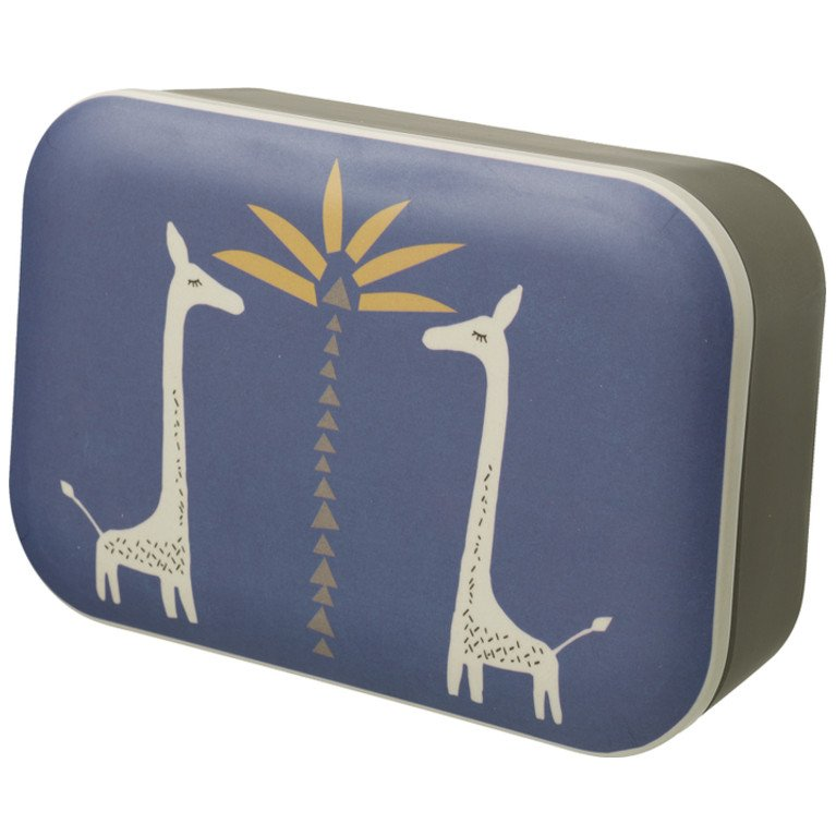Lunch box in bamboo Giraffe