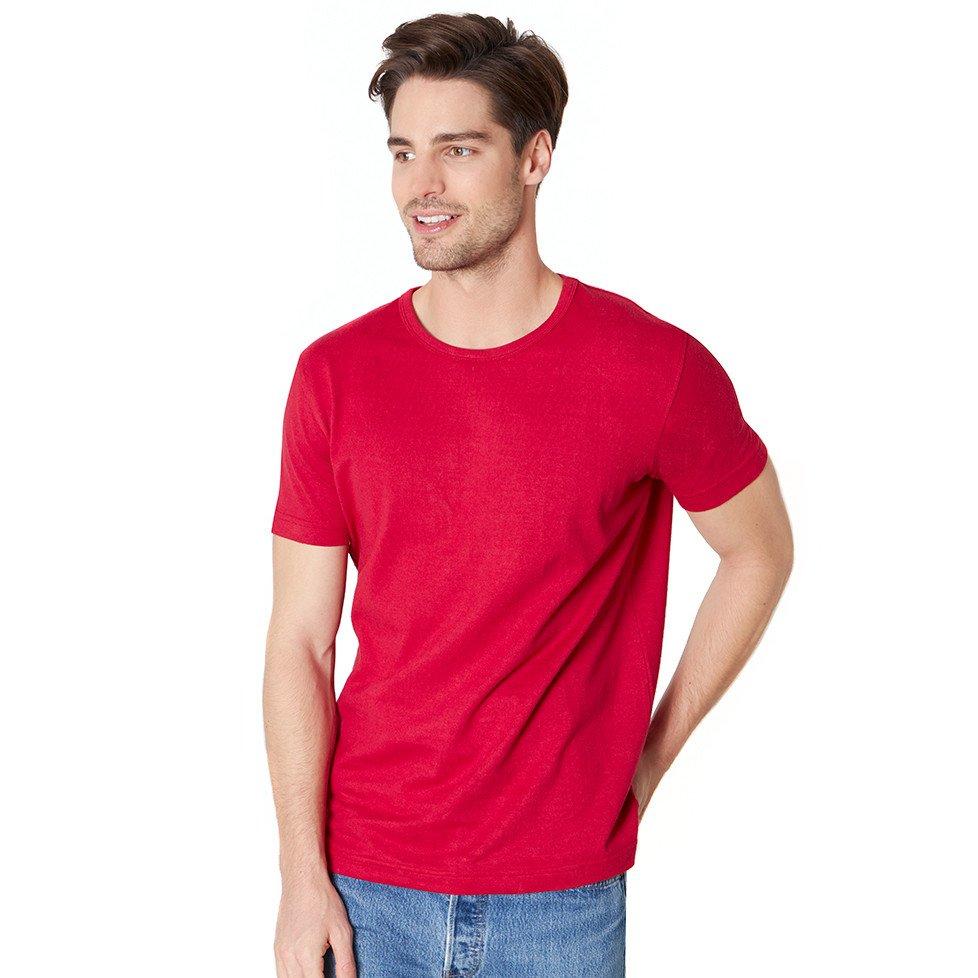 Maglia uomo Rossa manica corta in canapa