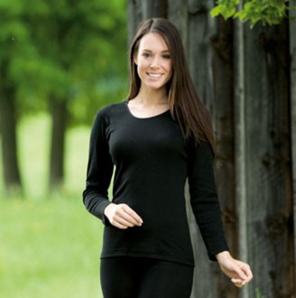 150dd7b07e85 Maglia donna Manica lunga lana biologica e seta - Engel Natur