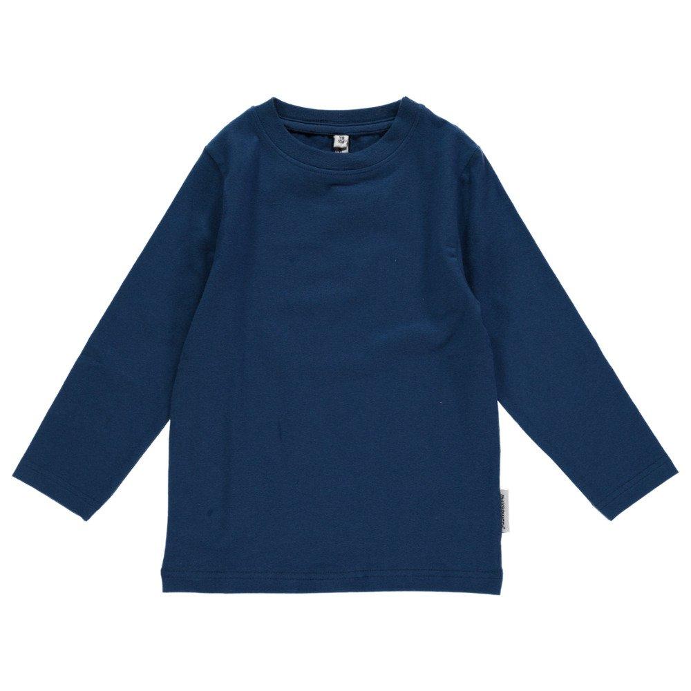 Maglia maniche lunghe Blu in cotone biologico