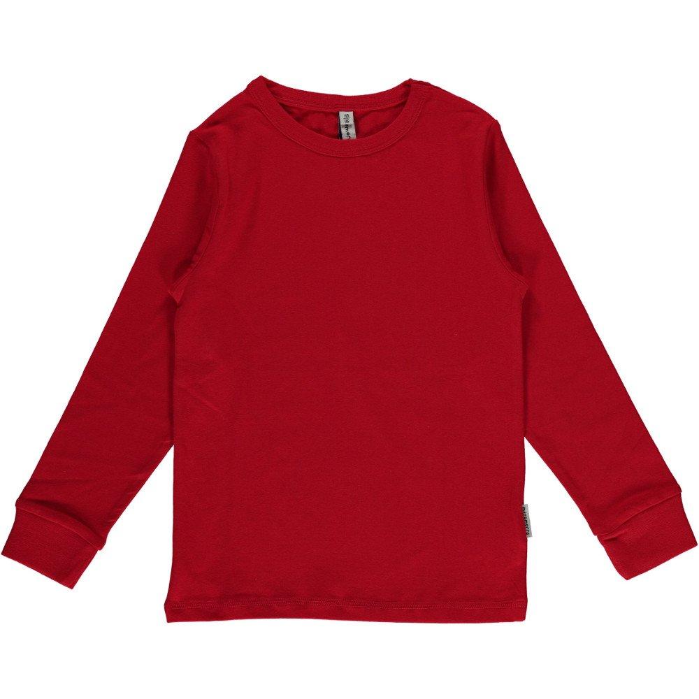 Maglia maniche lunghe Rossa in cotone biologico