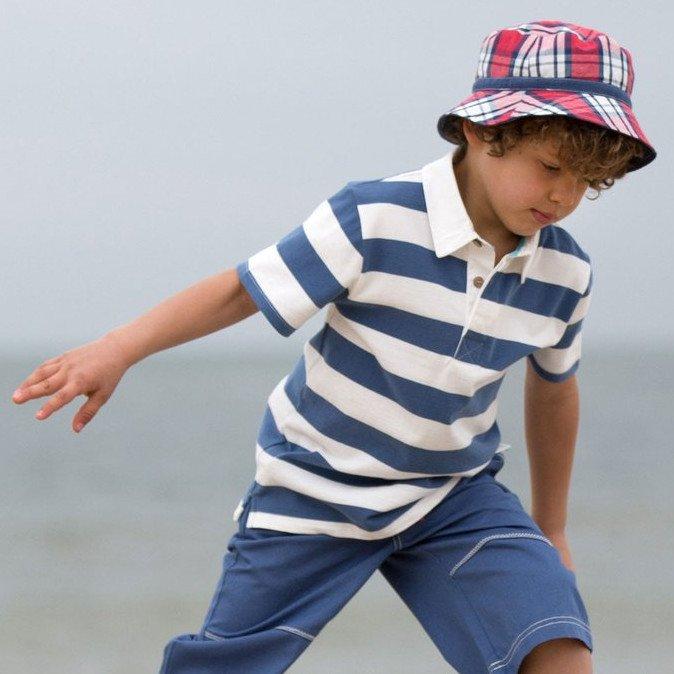 Maglia polo a maniche corte Rugby bambino in cotone bio