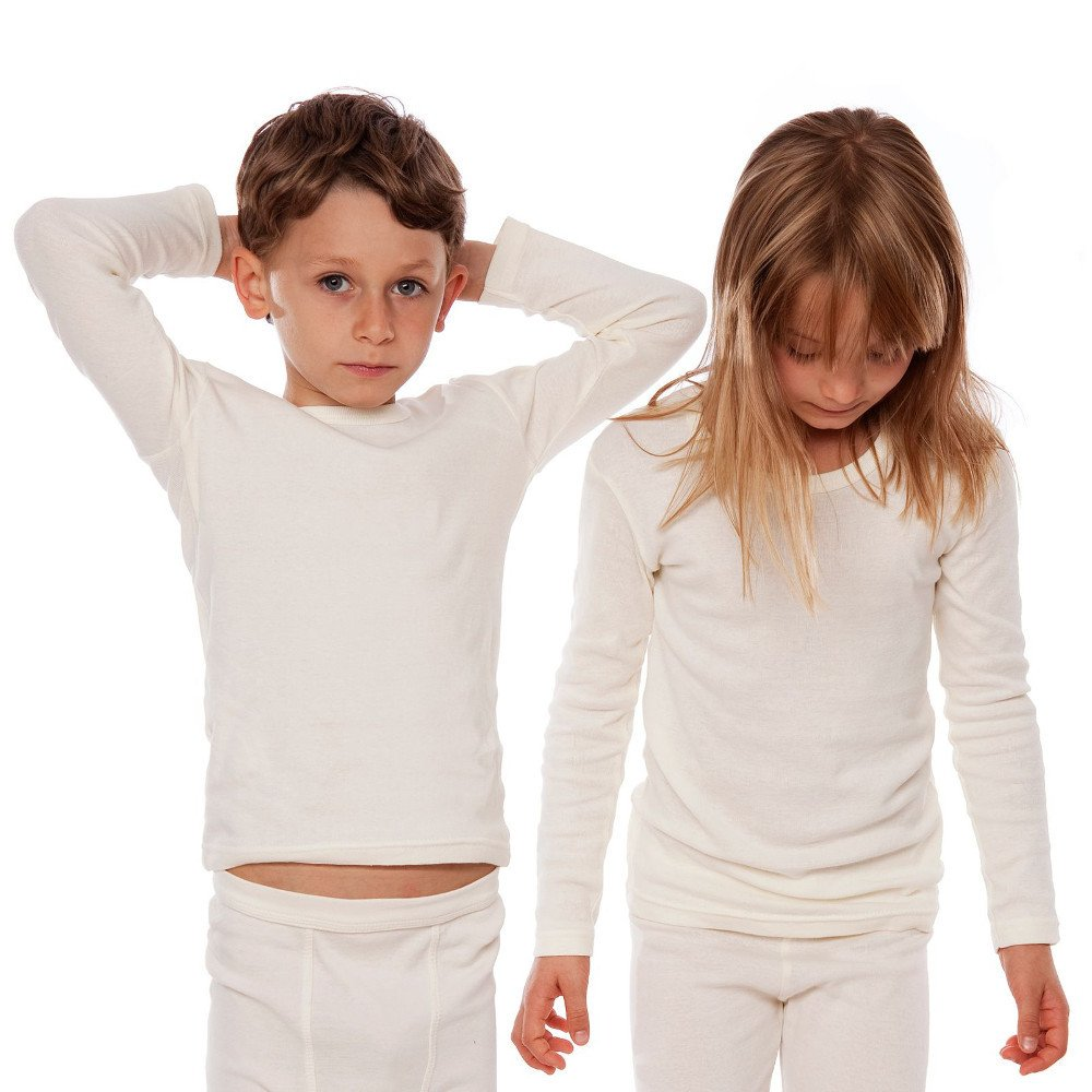 Maglia intima manica lunga per Bambini in cotone biologico