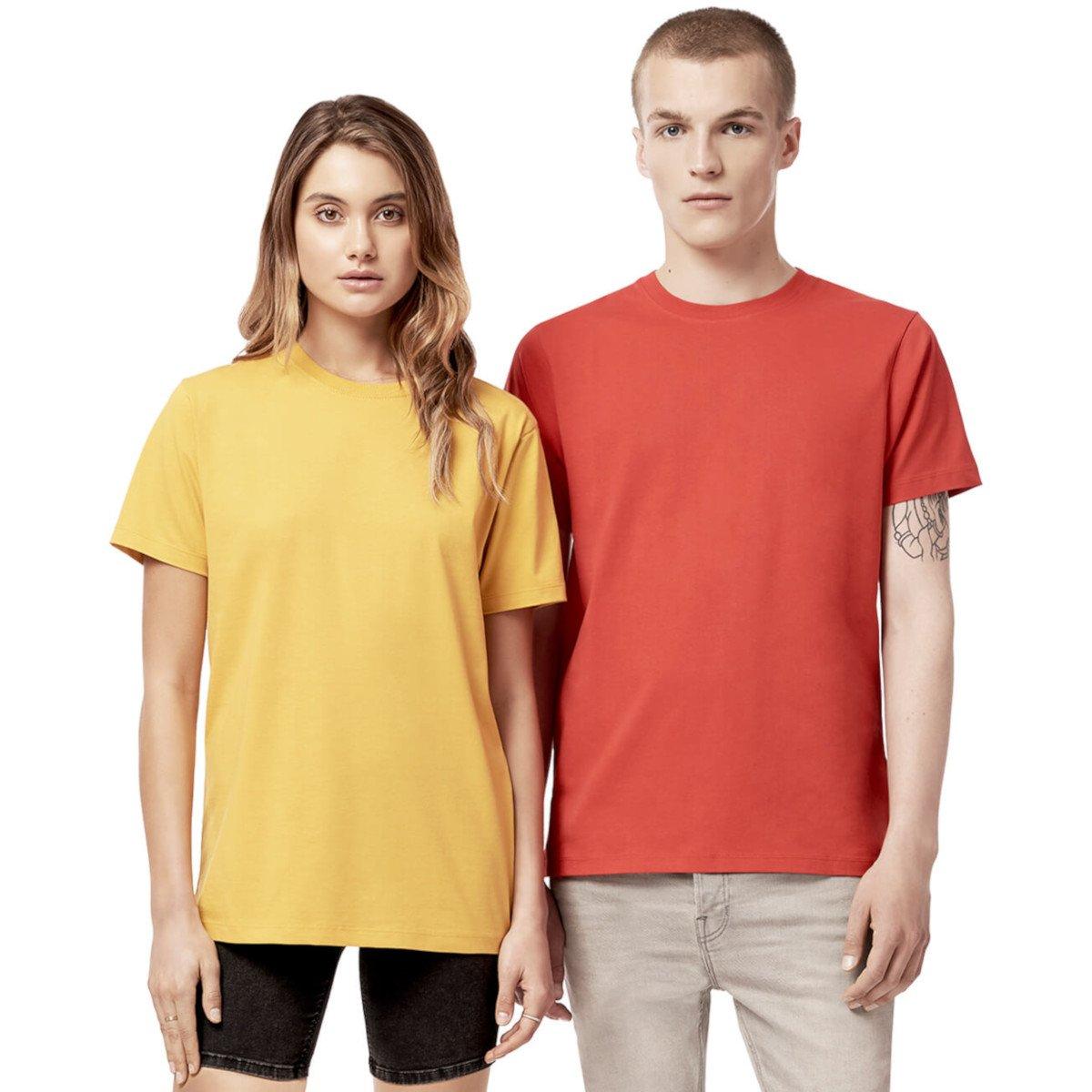 T-shirt unisex manica corta Colori Caldi in cotone biologico
