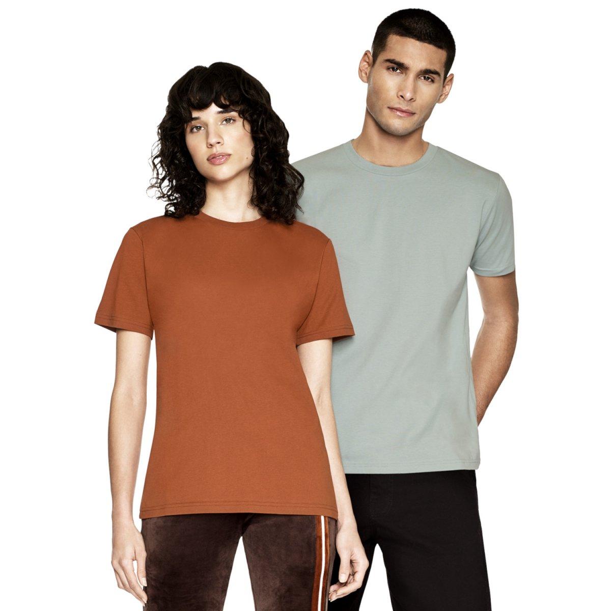 T-shirt unisex manica corta Colori Estate 2021 in puro cotone biologico