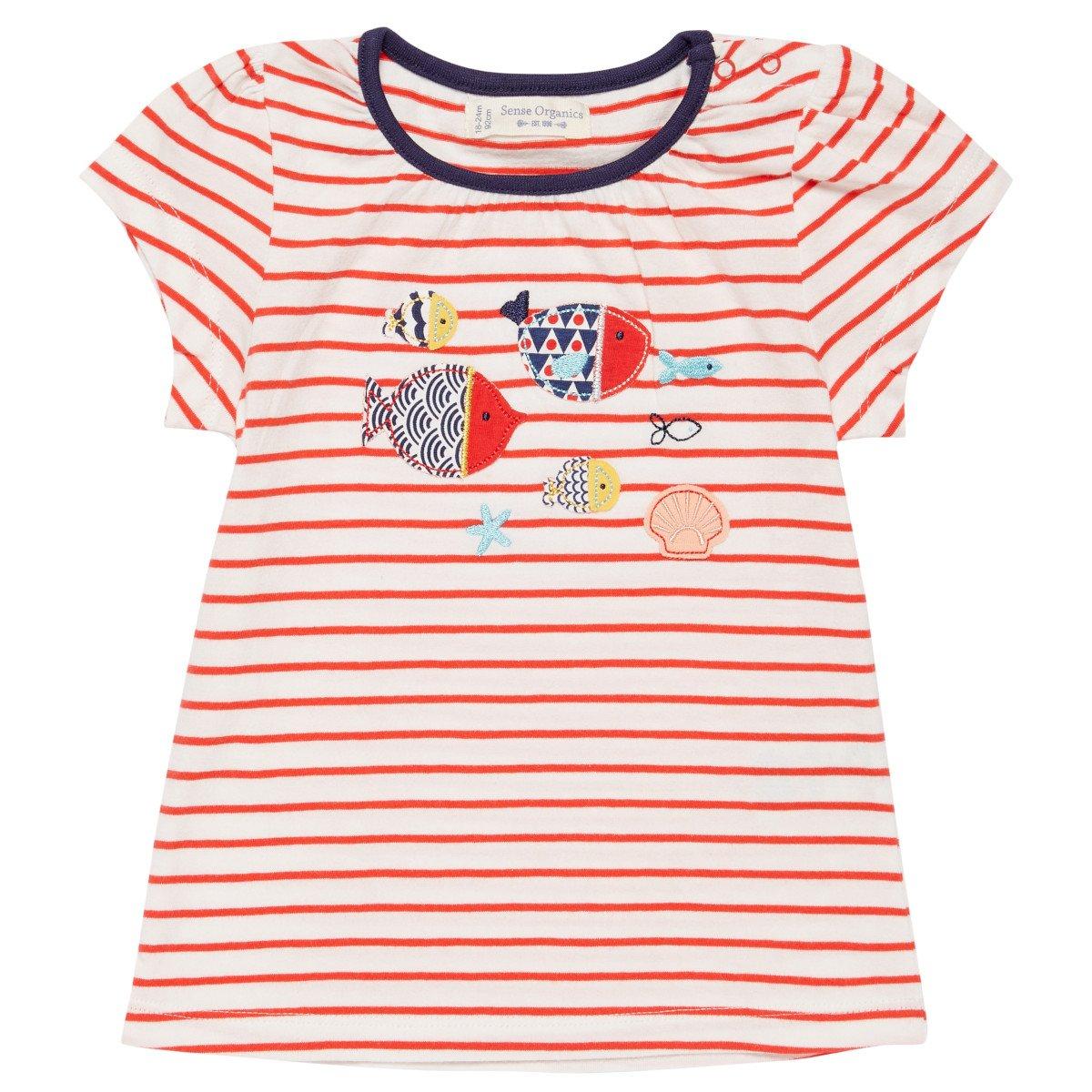 Cotone In Maglietta Per Sense Organics Pesci Bambina Biologico vOmNn0w8