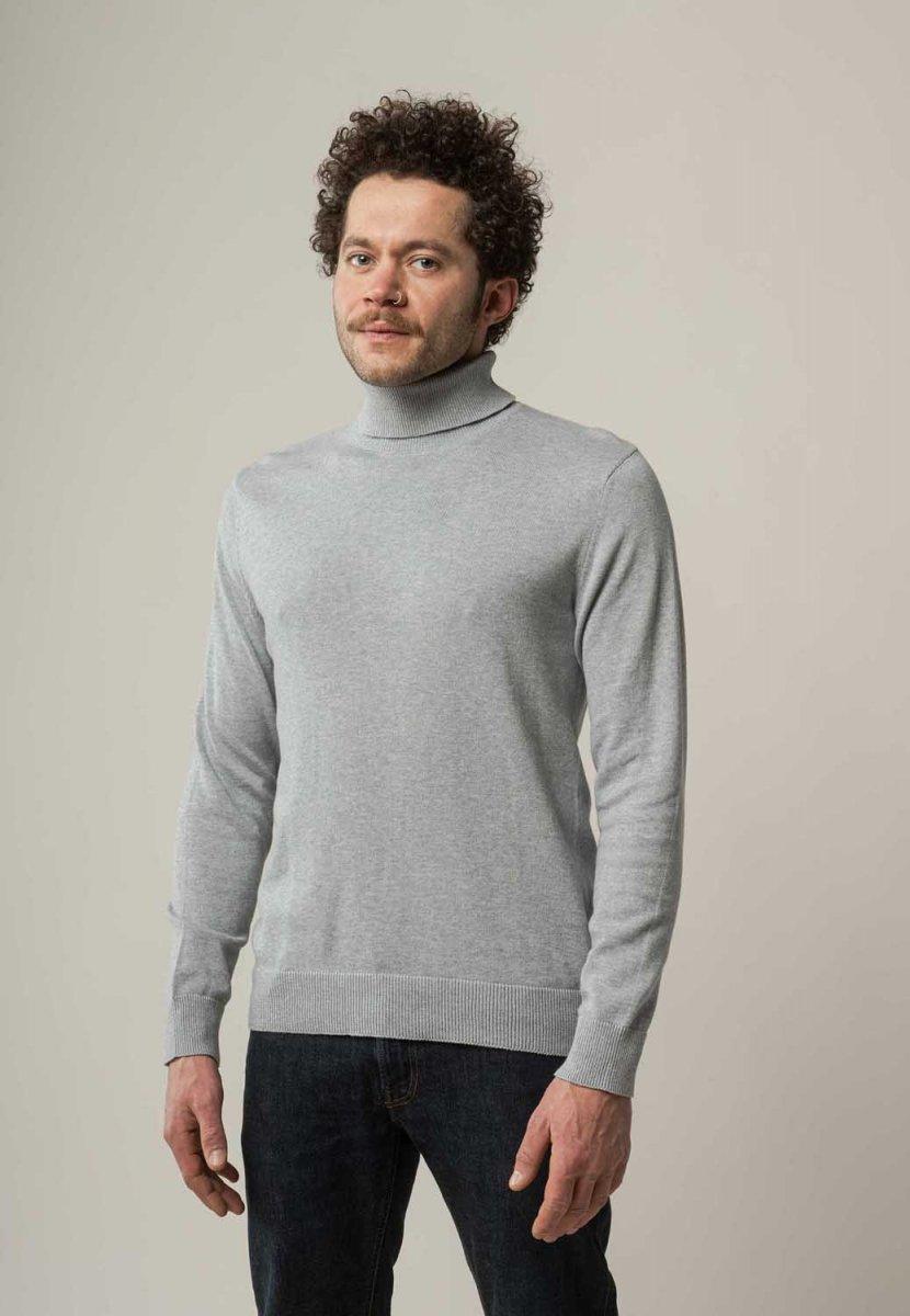 Maglione a collo alto Kanja da uomo Cotone Biologico Equosolidale
