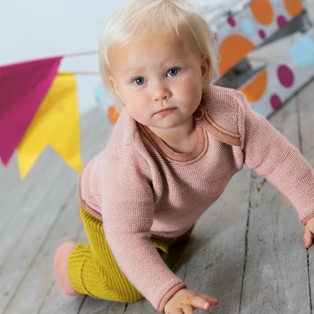 Maglioncino Baby Disana in lana merino biologica