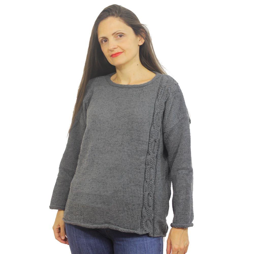 vendita limitata negozio del Regno Unito scarpe classiche Maglione donna Roberta in 100% lana merino - Himalaya Clothing
