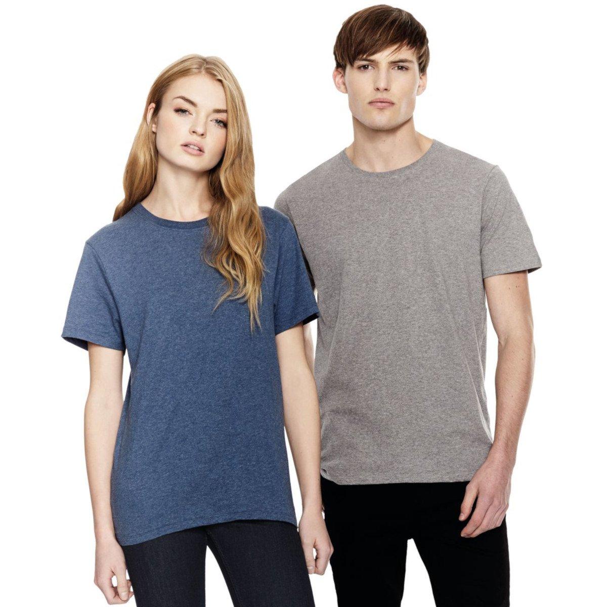 T-shirt basic melange man in organic cotton