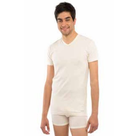 Man short sleeve underwear vest in bio fair cotton