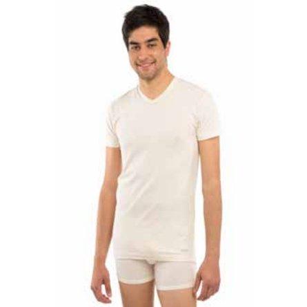 Man short sleeve underwear vest in bio fair cotton