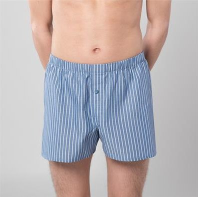 Classic woven boxer in organic cotton - 2 pc