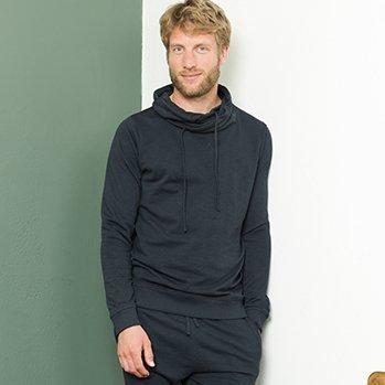 Man relax sweatshirt Dustin in organic cotton