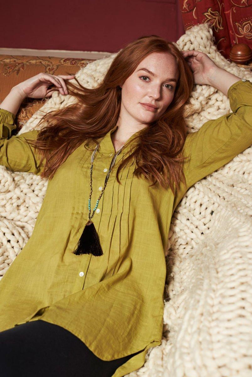 Camicia Lunga in cotone equosolidale