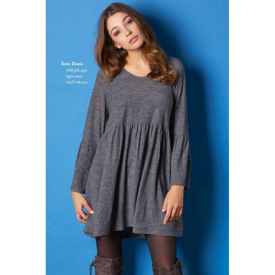 Vestito maxi maglia Dewie in 100% lana merino