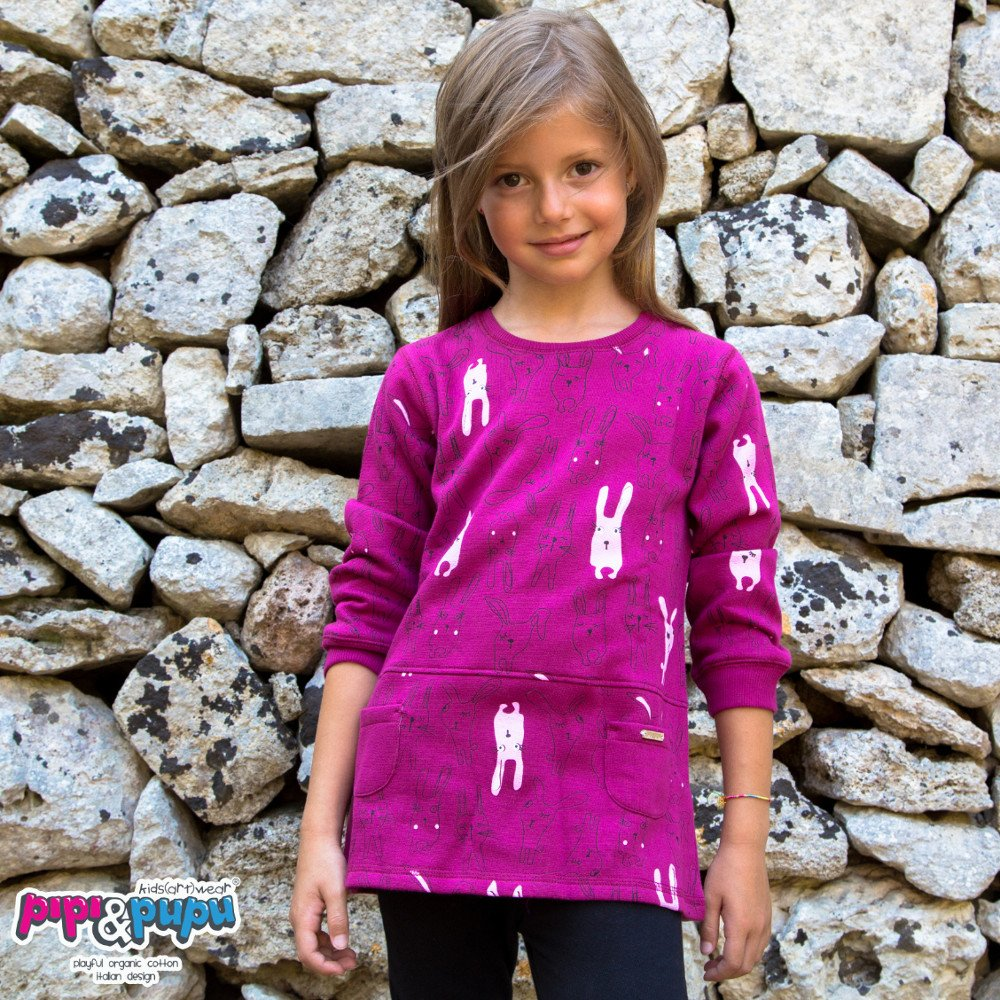 Maxi maglia Raby in cotone biologico felpato