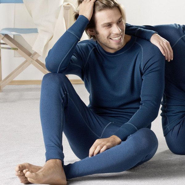 Men's leggings in organic wool/silk