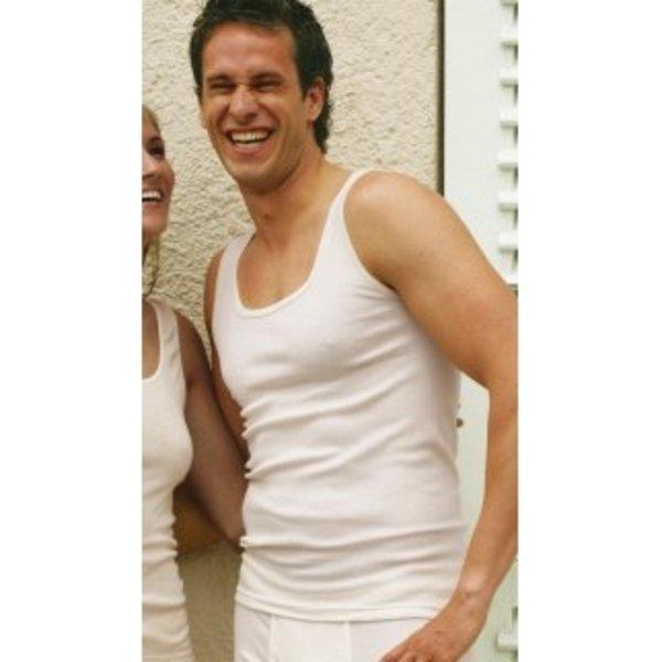 Men sleeveless vest in organic wool and silk