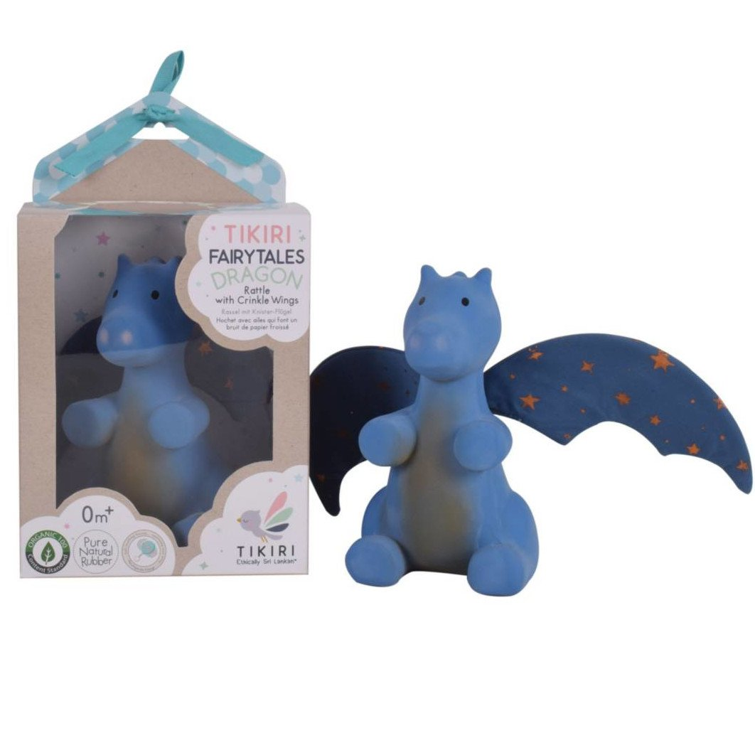 Midnight Dragon Tikiri in natural rubber with rattle