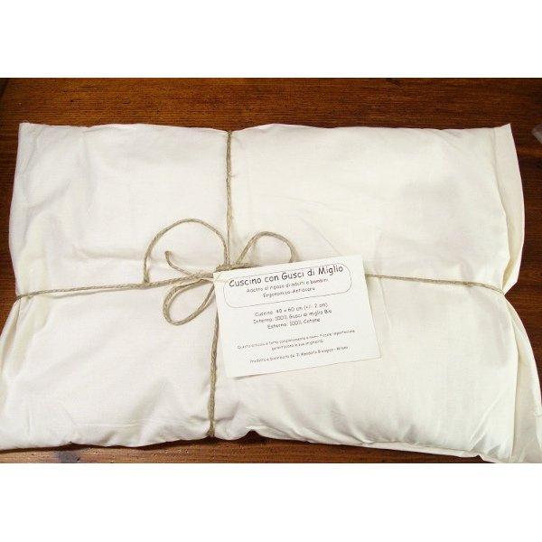 Millet husk pillow for cot