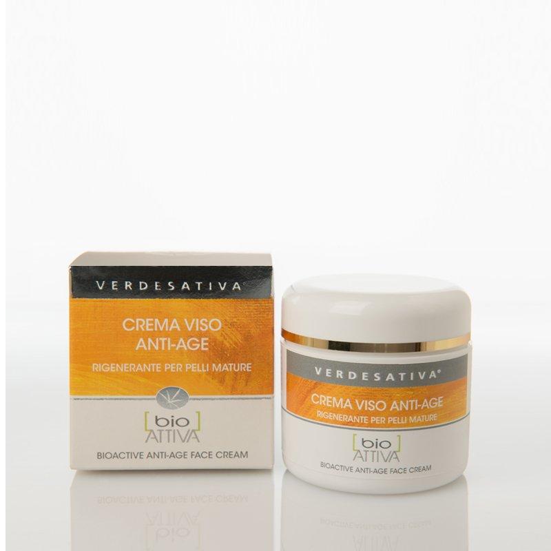 Anti-age face cream with hemp oil