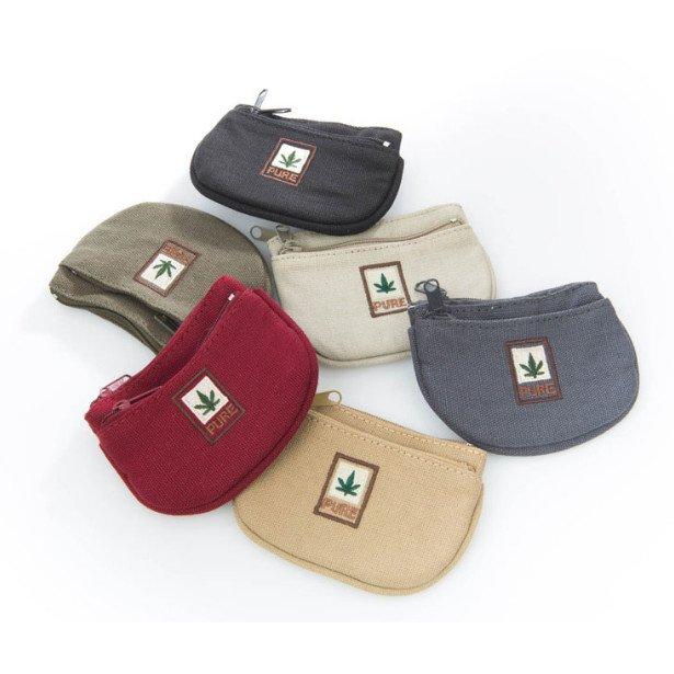 Money and key purse in hemp