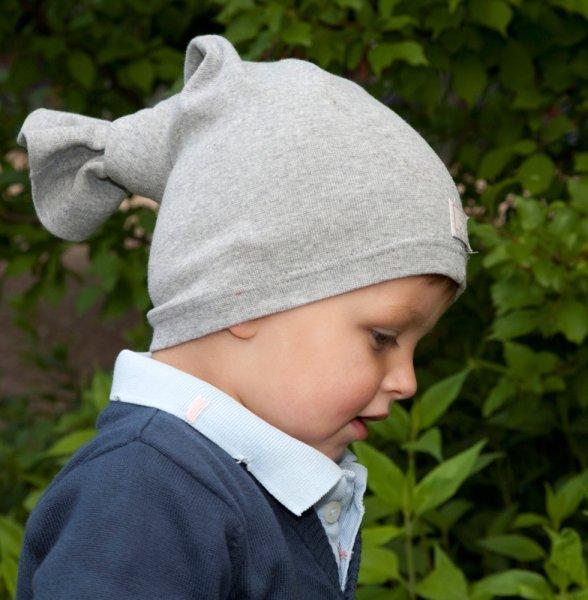 Multipurpose grey hat in organic cotton